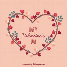 Flat Valentine's Day Background Vector  Free Download