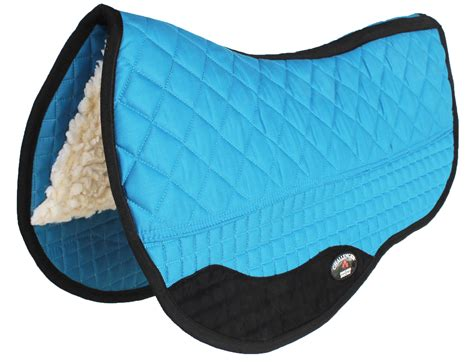 pad saddle western turquoise double horse lined fleece barrel 28x32 challenger