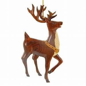 Hawaiian Ornament - Wood Reindeer