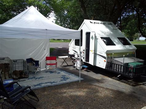 typical set    ez  canopy  removable sides  frame folding pop  camp trailers