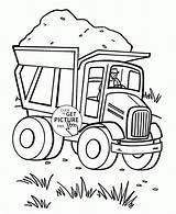 Dump Coloring Truck Preschool Transportation Trucks Printables Loaded Sand Colouring Fully Tractor Wuppsy Toddlers Pdf Printable Heart Semi Cartoon Valentine sketch template
