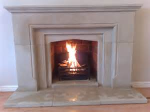 solid sandstone fireplace