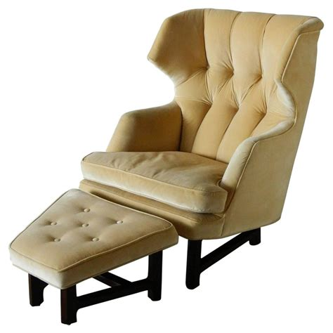 wingback chair and ottoman janus wing chair and ottoman by edward wormley for dunbar