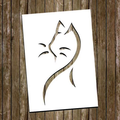 Paper Cut Out Templates by Cat Paper Cutting Template Cat Papercut Cat Cut Out Cat