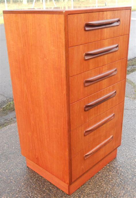 tall narrow teak chest   drawers   plan