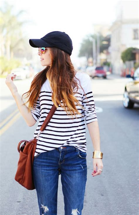 5 Cute Outfits with Baseball Hats - How To Simplify