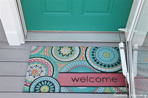 welcome mat target pop of color on the front door southern hospitality