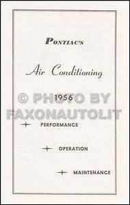 1956 Pontiac Reprint Owner U0026 39 S Manual