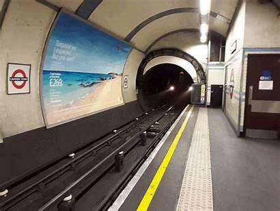 Train Underground London Metro Tube Approaching Cymru