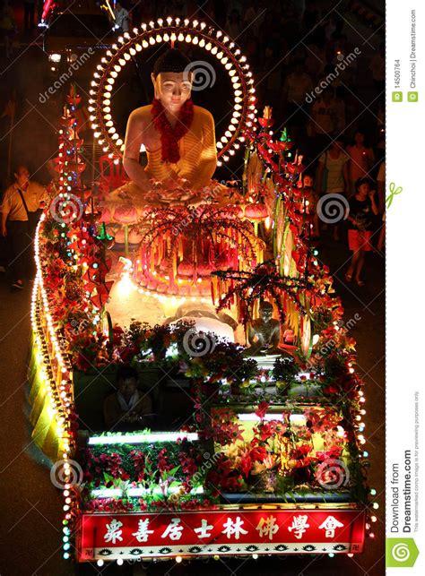 wesak day procession kuala lumpur editorial stock image