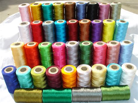 sewing machine singer 40 spools of sewing machine silk art embroidery threads