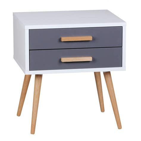 Kleiner Nachttisch Weiß by Finebuy Retro Nachttisch Wei 223 Grau Mit 2 Schubladen F 252 223 E