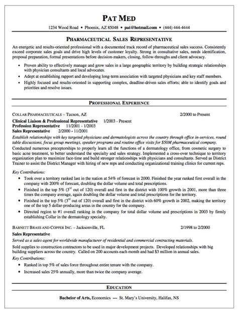 sle resume pharmaceutical sales representative http