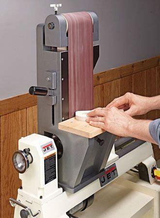 lathe driven belt sander woodsmith plans woodworking