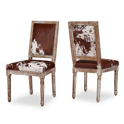 Cowhide Dining Chairs by Tov Furniture Cowhide Dining Side Chairs Set Of 2