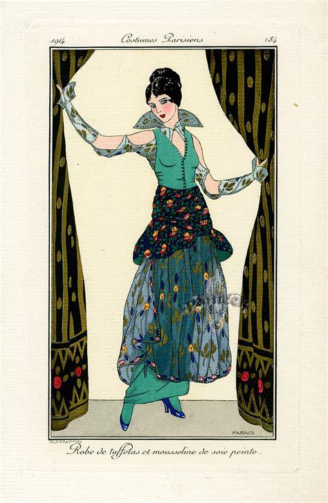 costumes parisiens deco pochoir prints