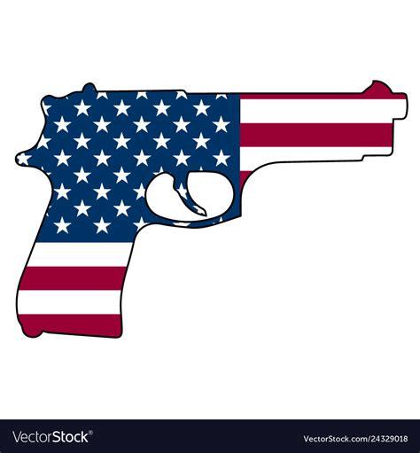 Please to search on seekpng.com. American flag gun automatic pistol handgun Vector Image