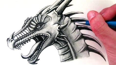 draw  dragon head youtube
