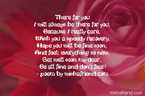 Get Well Soon Poems