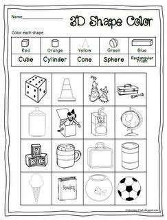 free printable 3d shape worksheet to color scroll the page time 4 geometry and