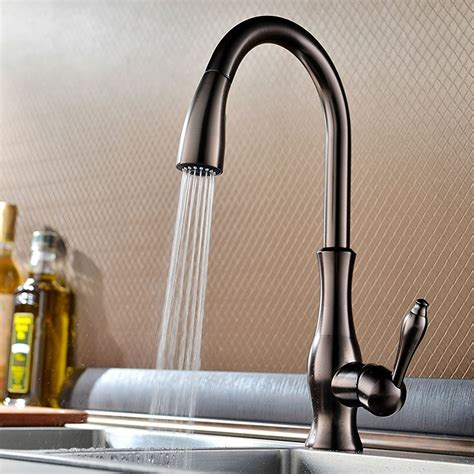 Mounted Faucet Kitchen by Moravia Deck Mounted Kitchen Sink Faucet With Pull Spray