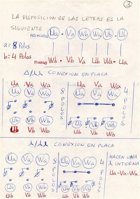 1 necesito diagrama de coneccion motor trif 2velocidades motores y bobinados yoreparo