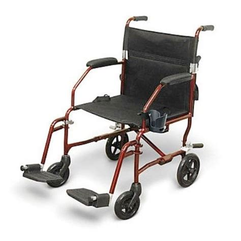Medline Transport Chair by Medline Freedom Light Weight Transport Chair Wheelchair In