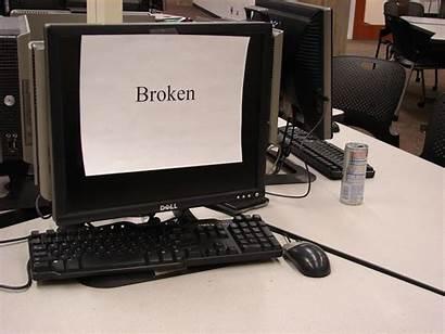 Broken Computer Technology Down Server Screen Need