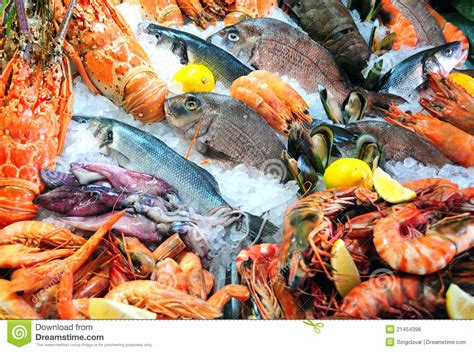 where to get fresh seafood fresh seafood royalty free stock photos image 21454398