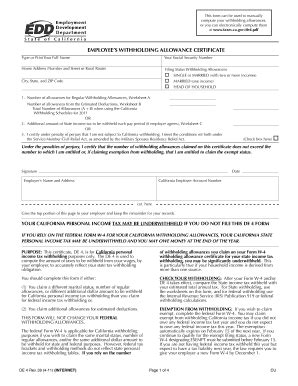 2011 form ca de 4 fill online printable fillable blank