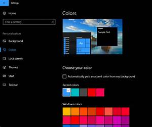 Customize Windows 10 Backgrounds, Colors, Lock screen, Themes