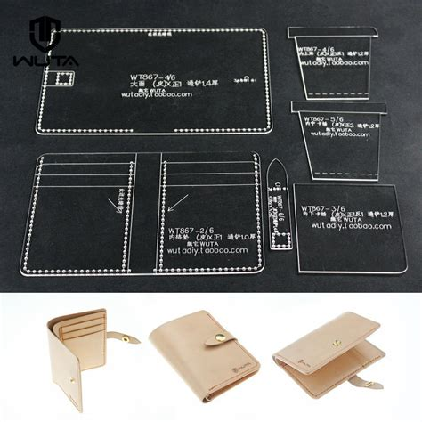 leather templates handmade clear acrylic leathercraft pattern wallet card template 867 ebay