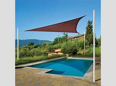 Sun Shade Sail Triangle, Terracotta Shade Cloth And