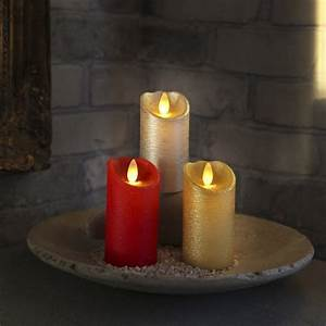 Flackernde Led Kerzen : led echtwachs kerze mit timer flackernde flammenlose kerzen flackernd candle ~ Markanthonyermac.com Haus und Dekorationen