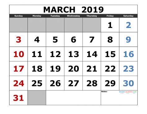printable  calendar template landscape format
