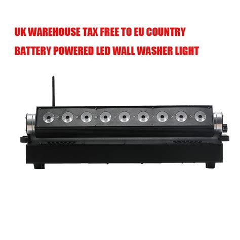 4x lot uk stock led wall washer light 9 15w 5in1 rgbaw uv battery powered led wall light dmx