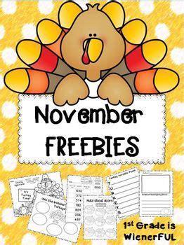 november freebies great  st  grade enjoy