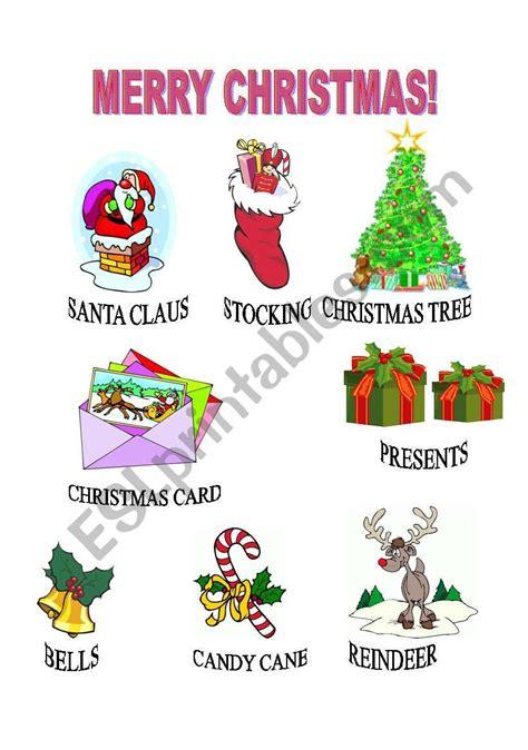 english worksheets merry christmas