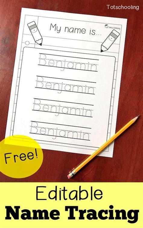 editable  tracing sheet preschool writing