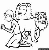 Den Daniel Lions Coloring Lion Pages Drawing Bible Children Clipart Sunday Crafts Printable Colouring Friday Thecolor Clip Story Activity Faithful sketch template