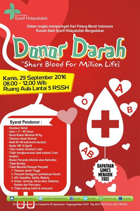 ayo ikuti donor darah  september   rumah sakit