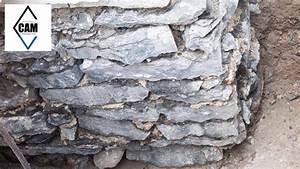 Mur En Moellon : r paration de fondation de moellons youtube ~ Dallasstarsshop.com Idées de Décoration