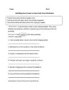 verb sheet identifying past present or future verb tenses worksheet englishlinx board