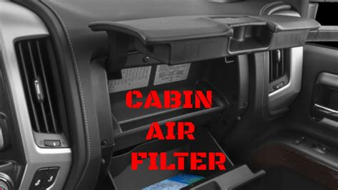 gmc sierrachevy silverado cabin air filter replacement