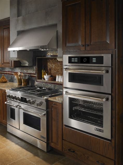 Kitchen Oven Wall by Jenn Air Kitchen With 48 Quot Gas Range And Wall Oven With