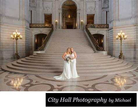 grand staircase wedding photography  sf city hall san