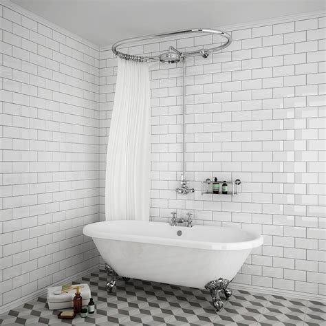 Shower With B by Chatsworth 1200 X 630mm Oval Shower Curtain Rail With