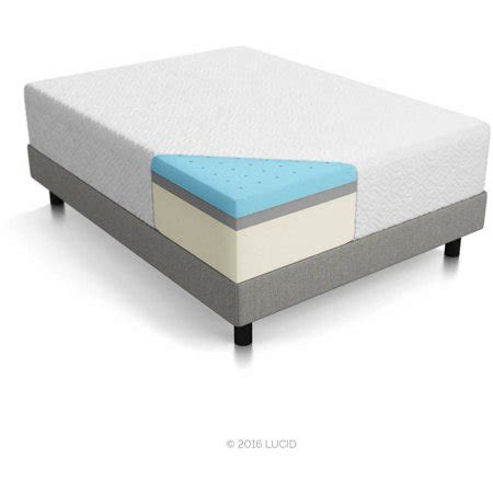 lucid 14 memory foam mattress lucid 14 quot memory foam mattress layer