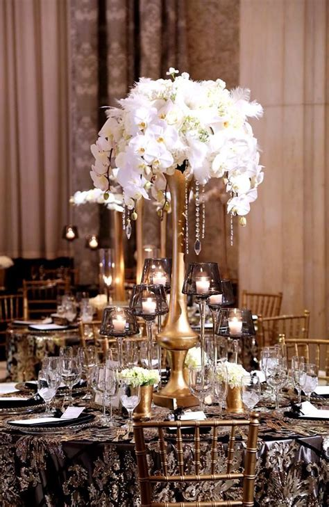A #glitzy #glamorous #Great #Gatsby inspired #tall #