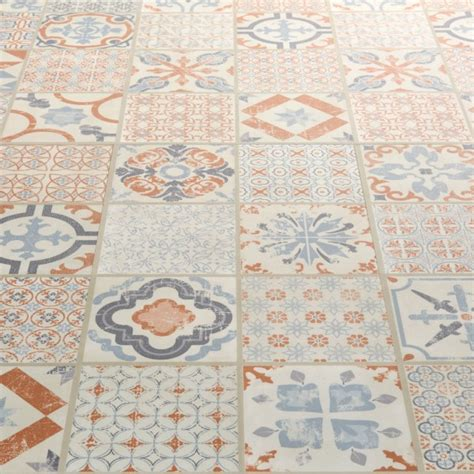vintage vinyl flooring for starfloor tile retro orange blue luxury vinyl tile 8846